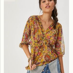 Anthropologie Gretchen Smocked Tunic